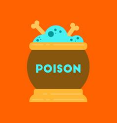 Flat icon on stylish background potion cauldron vector