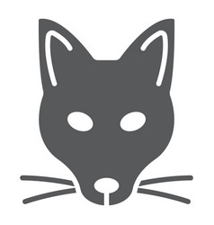 fox glyph icon animal and zoo vector image