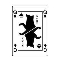 Fox queen of spades vector