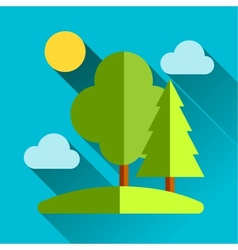 Go eco green flat icon vector