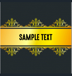 golden stripe with black background vector image