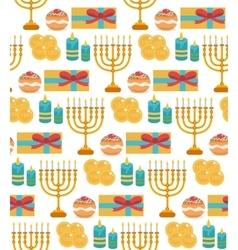Hanukkah seamless pattern Hanukkah background vector