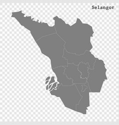 high quality map is a state malaysia vector image