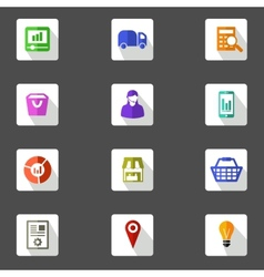 Icon set for marketing planning flat design icons vector image