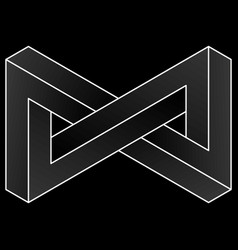 Impossible triangular infinity icon vector