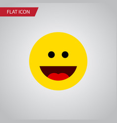 Isolated grin flat icon laugh element can vector