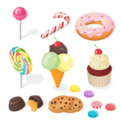 Isometric of sweets vector