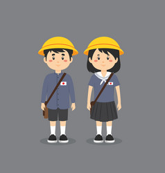 Japanese character wearing elementary school vector
