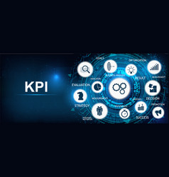 key performance indicator kpi background vector image