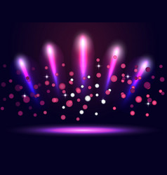 Lighting podium stage neon spotlights vector