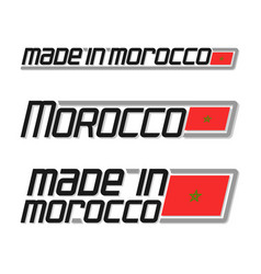 made in morocco vector image