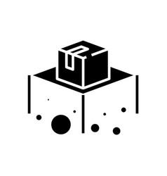 parcel black icon concept vector image