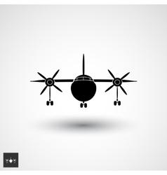 Plane logo icon vector