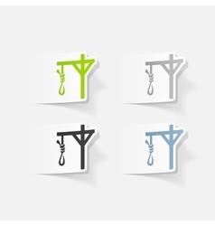 Realistic design element gallows vector