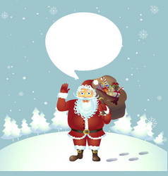 santa claus cartoon waving her hand vector image