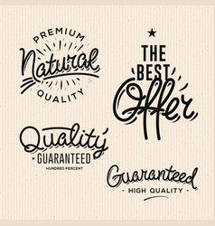 Satisfaction guaranteed vintage premium quality vector