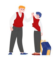 schoolboy bullied classmate vector image