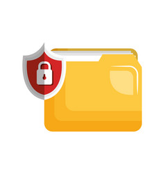 Security data information flat icons vector