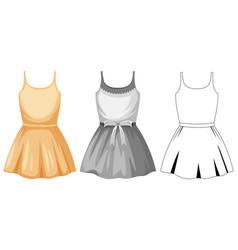 set female cute dress vector image