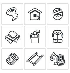 Set of Emergency Service Icons Hurricane vector