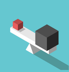 Small big cubes balance vector