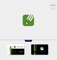 Study pen creative logo template vector