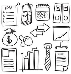 Style business object of doodles vector