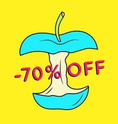 Summer sale background with apple vector