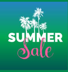 summer sale lettering background season vector image