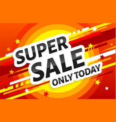 super sale poster banner design template vector image
