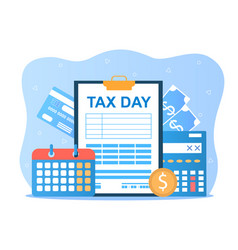 Tax day holiday vector