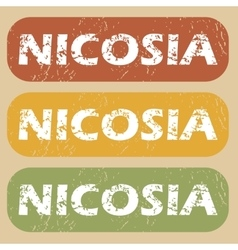 Vintage Nicosia stamp set vector image
