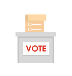 vote election box icon flat style vector image