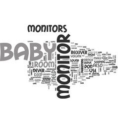 what you need to know about baby monitors text vector image