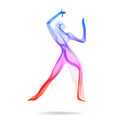 Woman dancer indian dancer abstract colored human vector