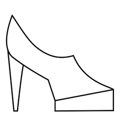 Women shoes on platform icon outline style vector