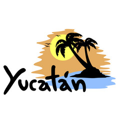 Yucatan palm vector