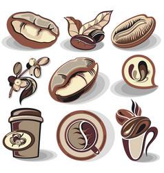 coffee symbols vector image
