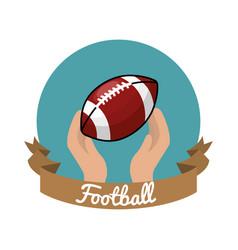 Emblem football game icon vector