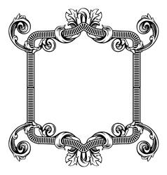 Floral label frame 2 vector