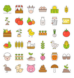 organic farming products icon vector image vector image