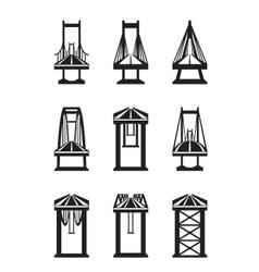 Various types of bridges vector image