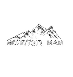 a mountain peak with pine vector image