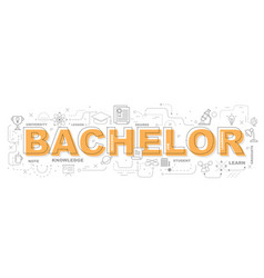 bachelor icons for education graphic design vector image vector image
