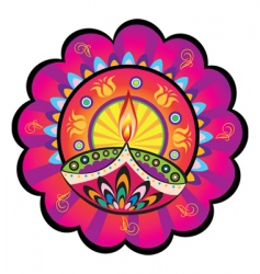 Indian light icon vector image