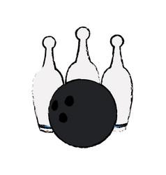bowling ball pin game sport vector image