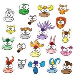 different wild animals cartoons vector image vector image