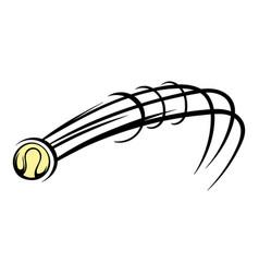 flying baseball ball icon icon cartoon vector image