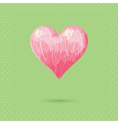 Romantic valentine sketch heart invitation postcar vector