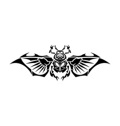 Scarab Tribe Tattoo vector image